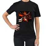 wallpaper_12280 Women s Black T-Shirt (Two Sides)