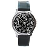 wallpaper_12647 Round Metal Watch