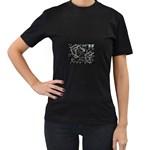 wallpaper_12647 Women s Black T-Shirt (Two Sides)