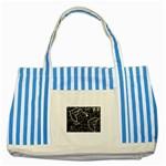 wallpaper_12647 Striped Blue Tote Bag