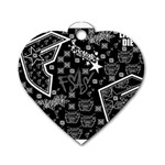 wallpaper_12647 Dog Tag Heart (One Side)