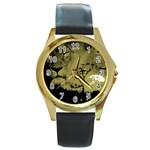 wallpaper_15601 Round Gold Metal Watch