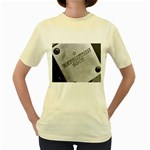 wallpaper_16868 Women s Yellow T-Shirt