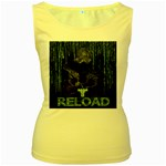 wallpaper_16954 Women s Yellow Tank Top