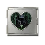 wallpaper_16954 Mega Link Heart Italian Charm (18mm)