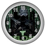 wallpaper_16954 Wall Clock (Silver)