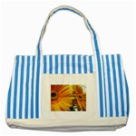 wallpaper_18294 Striped Blue Tote Bag