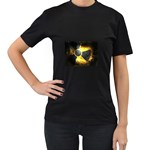 wallpaper_21592 Women s Black T-Shirt (Two Sides)
