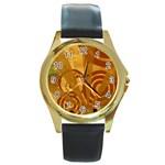 wallpaper_22315 Round Gold Metal Watch