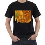 wallpaper_22315 Black T-Shirt (Two Sides)