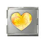 yellowdesign Mega Link Heart Italian Charm (18mm)