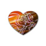 7 Rubber Coaster (Heart)
