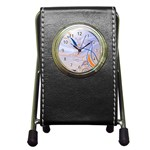 6 Pen Holder Desk Clock