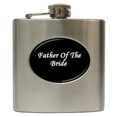 Father of the Bride Hip Flask (6 oz) from SnappyGifts.co.uk Front