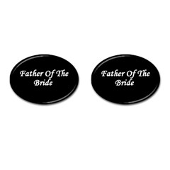 Father of the Bride Cufflinks (Oval) from SnappyGifts.co.uk Front