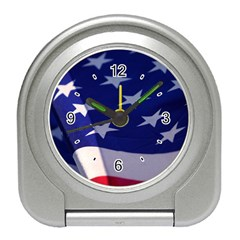 Stars and Stripes American Flag X3 Travel Alarm Clock from www.uniquelyartful.com Front