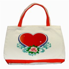 Design Your Own Customized Classic Red Tote Bag