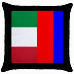 Italian & Russian Flag Throw Pillow Case (Black)