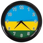 Rwandan Flag Wall Clock (Black)