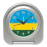 Rwandan Flag Travel Alarm Clock