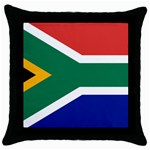 South African Flag Throw Pillow Case (Black)