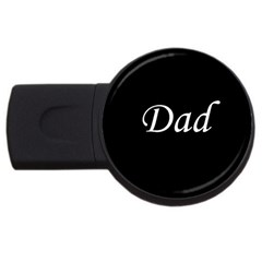 Dad copy USB Flash Drive Round (2 GB) from SnappyGifts.co.uk Front