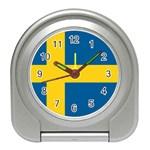 Swedish Flag Travel Alarm Clock