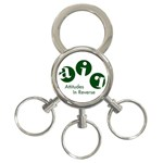 A.I.R. Attitudes In Reverse 3-Ring Key Chain