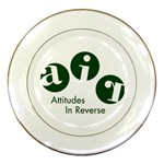 A.I.R. Attitudes In Reverse Porcelain Plate