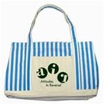 A.I.R. Attitudes In Reverse Striped Blue Tote Bag