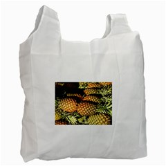 Pineapple Fruit in Pile Recycle Bag (One Side) from DesignMonaco.com Front