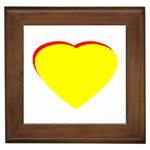 Heart Yellow Red - Wedding Invitation The MUSEUM Zazzle Gifts Framed Tile