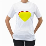 Heart Yellow Red - Wedding Invitation The MUSEUM Zazzle Gifts Women s T-Shirt