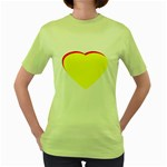 Heart Yellow Red - Wedding Invitation The MUSEUM Zazzle Gifts Women s Green T-Shirt
