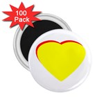Heart Yellow Red - Wedding Invitation The MUSEUM Zazzle Gifts 2.25  Magnet (100 pack)