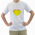 Heart Yellow Red - Wedding Invitation The MUSEUM Zazzle Gifts White T-Shirt