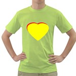 Heart Yellow Red - Wedding Invitation The MUSEUM Zazzle Gifts Green T-Shirt