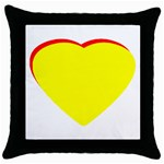 Heart Yellow Red - Wedding Invitation The MUSEUM Zazzle Gifts Throw Pillow Case (Black)
