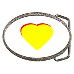Heart Yellow Red - Wedding Invitation The MUSEUM Zazzle Gifts Belt Buckle