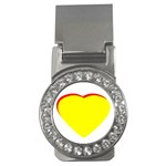 Heart Yellow Red - Wedding Invitation The MUSEUM Zazzle Gifts Money Clip (CZ)