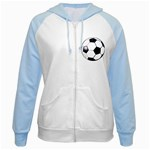 Soccer Ball 5a Transp The MUSEUM Zazzle Gifts Custom Design Women s Raglan Hoodie