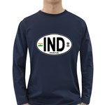 IND - India Euro Oval Long Sleeve Dark T-Shirt