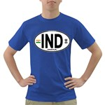 IND - India Euro Oval Dark T-Shirt