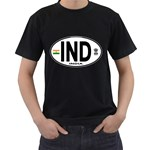 IND - India Euro Oval Black T-Shirt