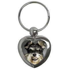 Animals Dogs Funny Dog 013643  Key Chain (Heart) from ArtAttack2Go Front