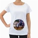 !ndn5 Maternity White T-Shirt