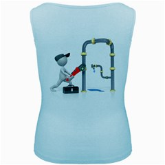Plumber Pipes Pc 1600 Clr Women s Baby Blue Tank Top from ArtAttack2Go Back