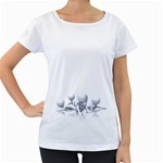 Stick Figure Group Confused 1600 Clr Maternity White T-Shirt