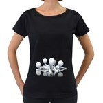 Stick Figure Group Confused 1600 Clr Maternity Black T-Shirt