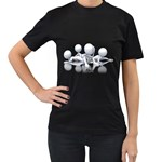 Stick Figure Group Confused 1600 Clr Women s Black T-Shirt